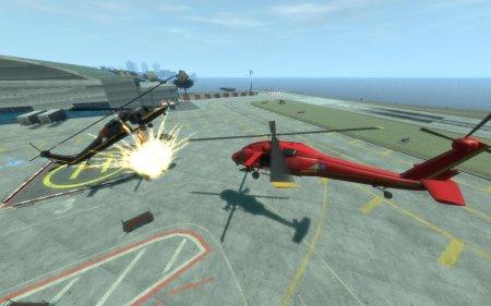 Вертоліт стріляє ракетами V.2