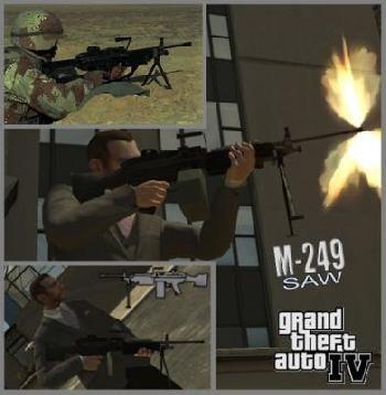 ������ ������� M249SAW