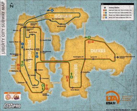 Схема метрополітену Міста Свободи