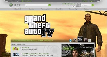 GTA IV на офіційному сайті Xbox