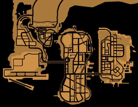 Карта Liberty City до GTA III