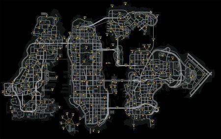 Карта літаючих пацюків (голубів)