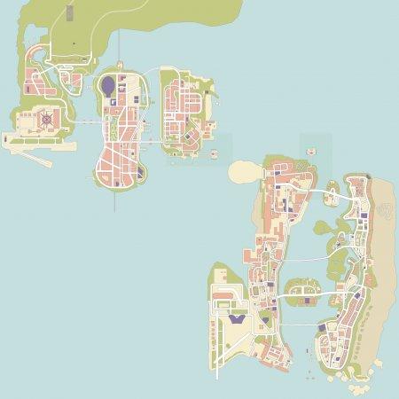 Карта місцевості моду GTA United