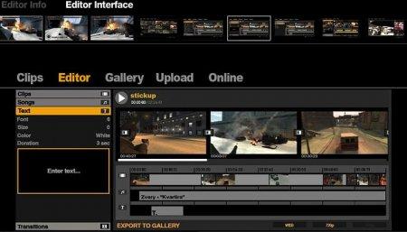 Створення кліпів у відеоредакторі GTA IV