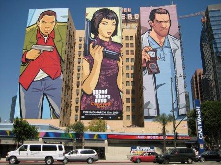 Реклама GTA: Chinatown Wars на будинках