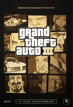 Літографії на тему ювілею GTA III