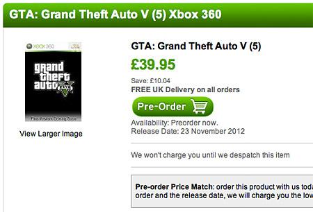 Можлива дата виходу GTA 5
