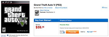 Walmart назвав нову дату появи GTA 5