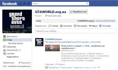 GTAWorld тепер на Фейсбуку