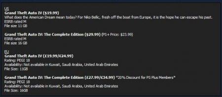 GTA 4 доступна для придбання у PSN