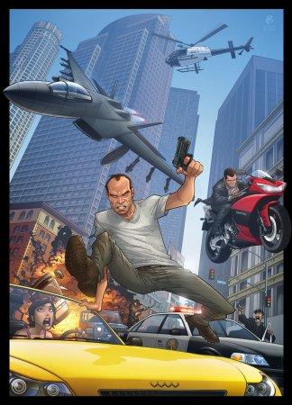 Патрік Браун малює Grand Theft Auto V
