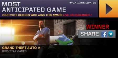 GTA V отримала нагороду Spikes VGA як найочікуваніша гра