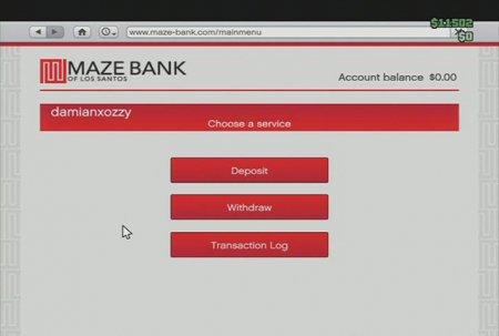 Онлайн-банкінг у GTA: Online